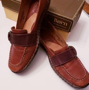 Born Teak Buckle Loafers